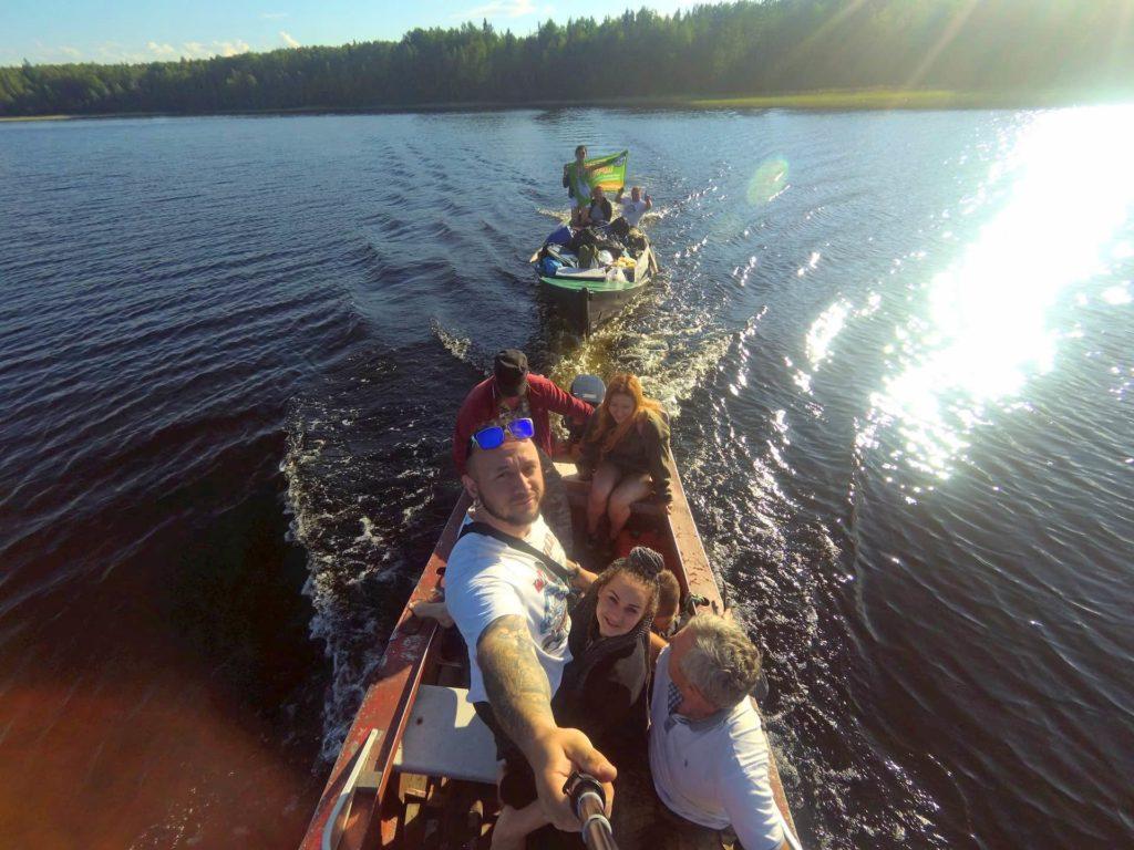 лодка в карелии